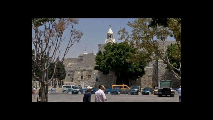 Video Bazilika Narození Páně na seznamu UNESCO