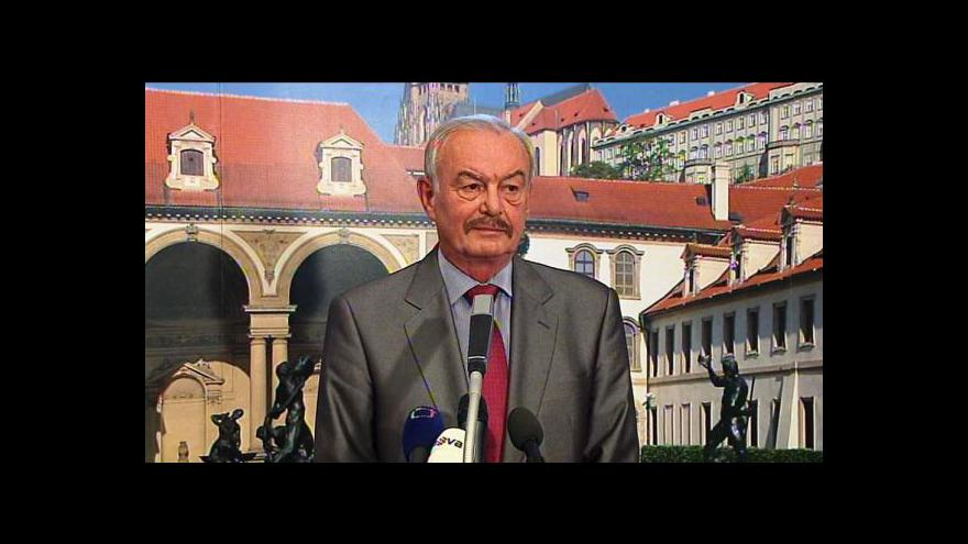 Video Brífink Přemysla Sobotky ke kandidatuře na prezidenta