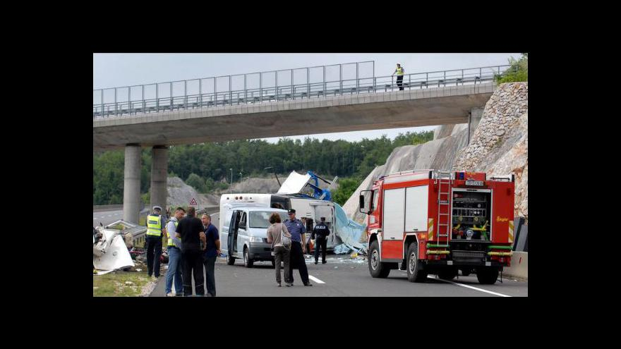 Video Nehoda autobusu v Chorvatsku - Události