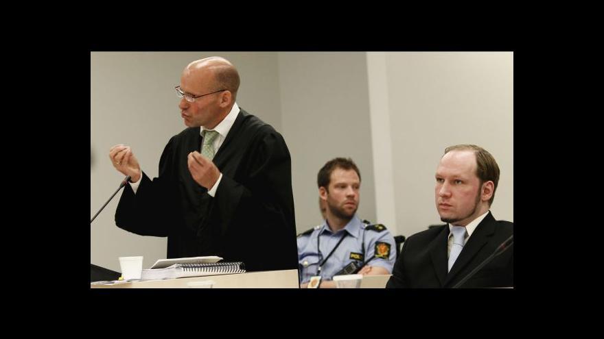 Video Breivik naposled promluvil před soudem