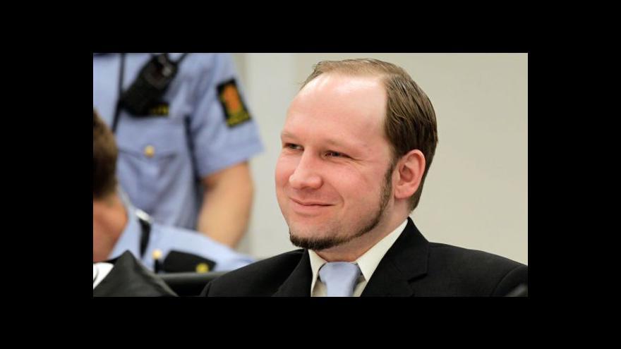 Video Obhájce žádá pro Breivika co nejmírnější trest