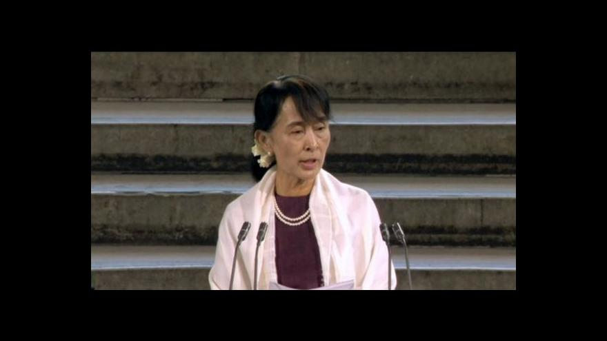 Video Projev Su Ťij v britském parlamentu