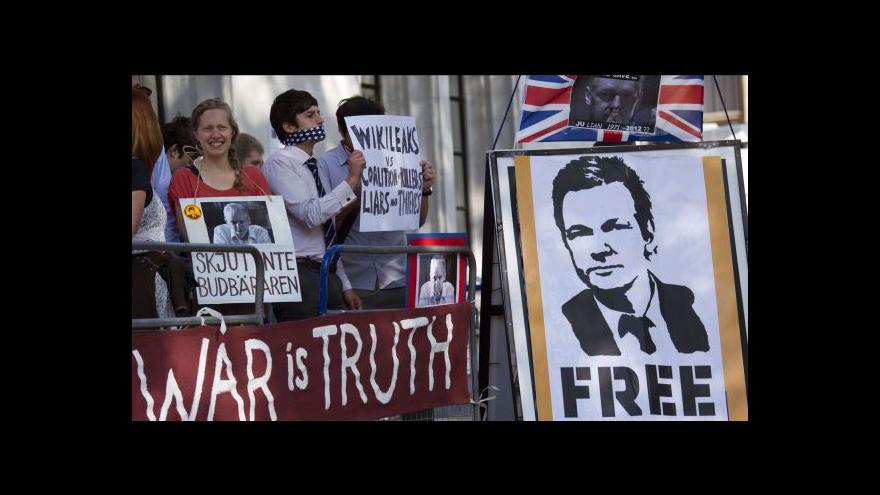 Video Assange chce do Ekvádoru