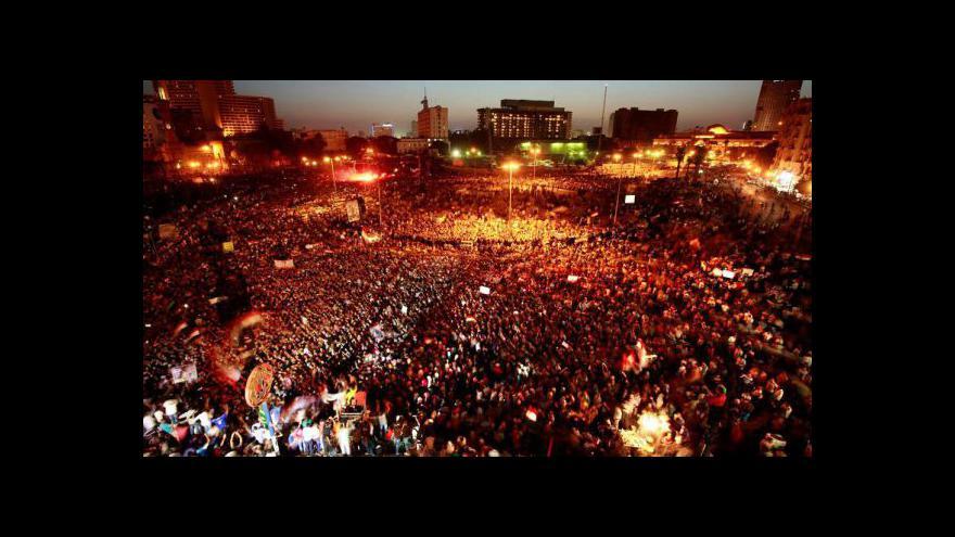 Video Egyptského exprezidenta Mubaraka udržují naživu přístroje