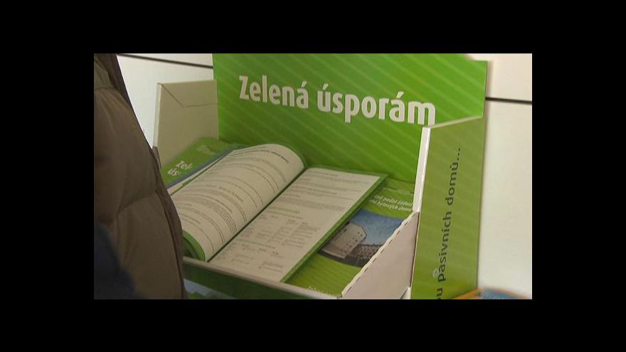 Video Podpora zeleného bydlení tématem Ekonomiky ČT24