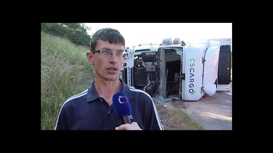 Video Řidič dodávky popisuje průběh nehody