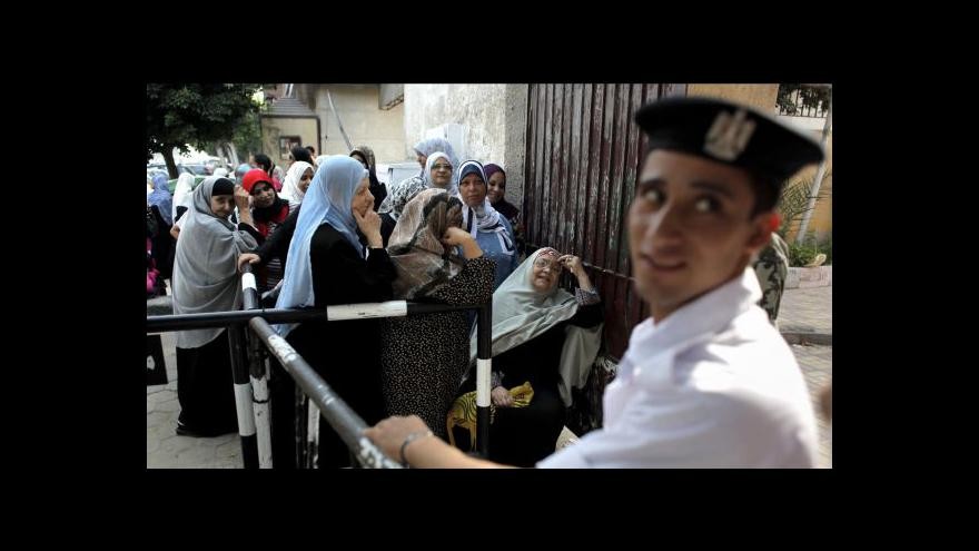 Video Egypt sčítá hlasy