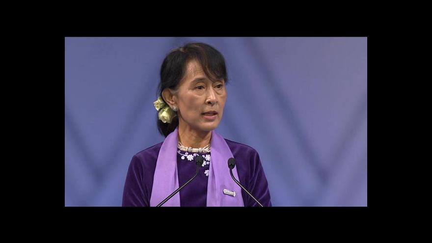Video Projev Su Ťij při převzetí Nobelovy ceny míru
