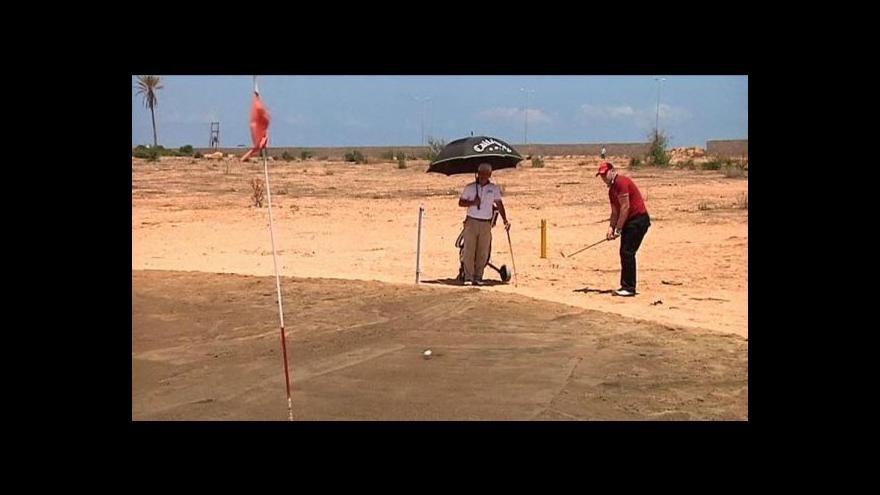 Video Libye hostila první golfový turnaj