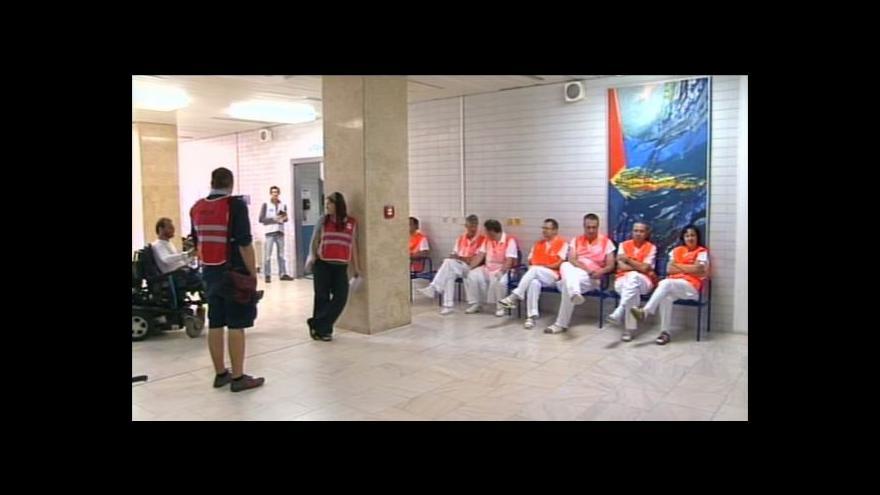 Video Nácvik péče o pacienty po srážce autobusu s vlakem
