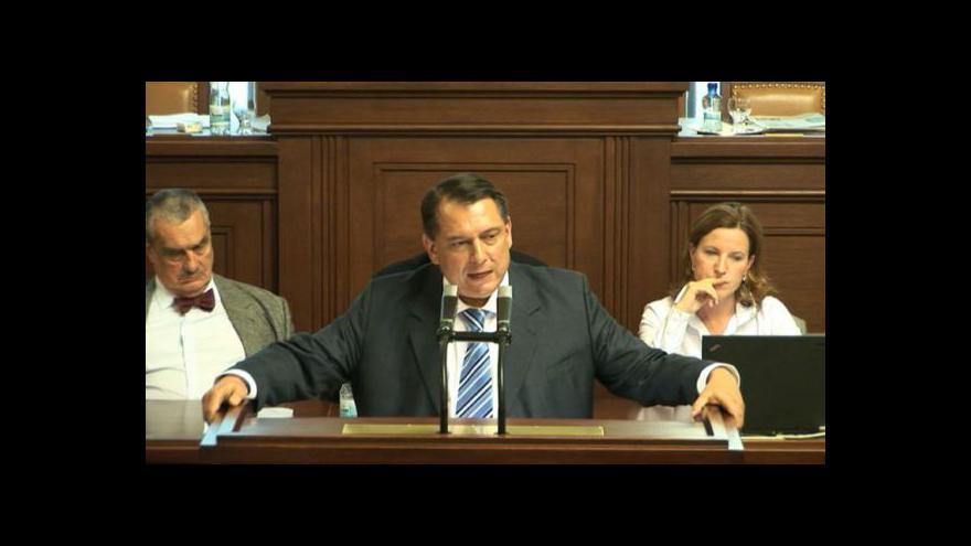 Video Projev Jiřího Paroubka v Poslanecké sněmovně