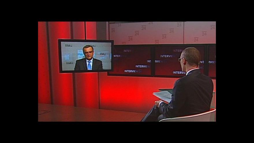 Video Miroslav Kalousek k ESM v pořadu Interview ČT24