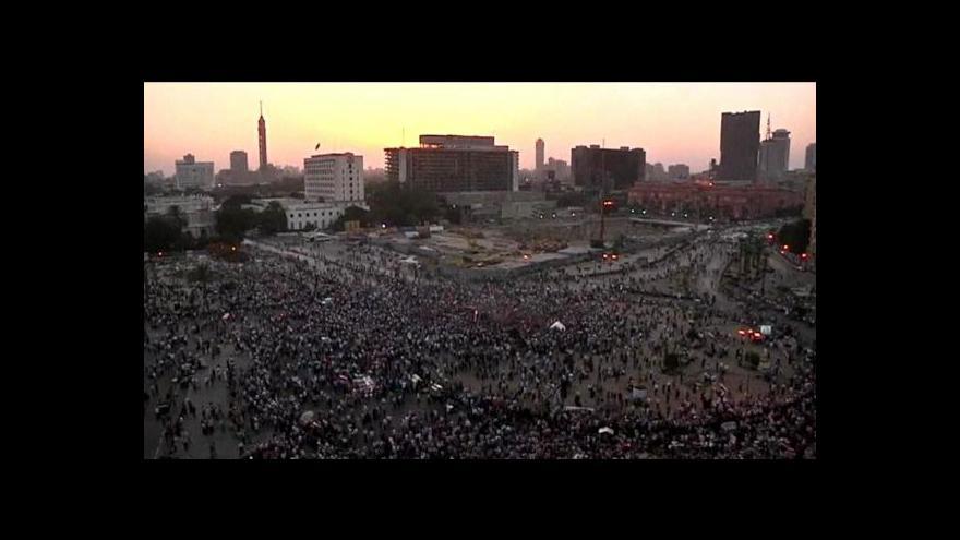 Video Egypťané se vrací na Tahrír