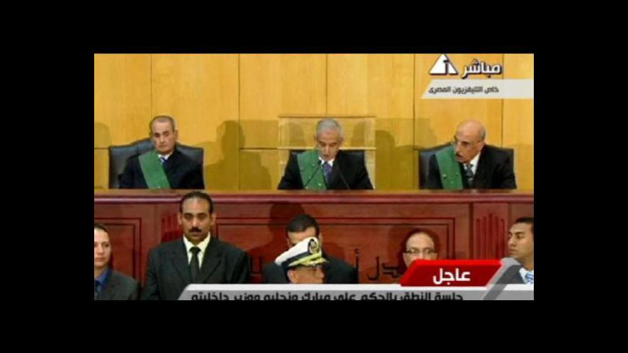 Video Mubarak dostal doživotní trest