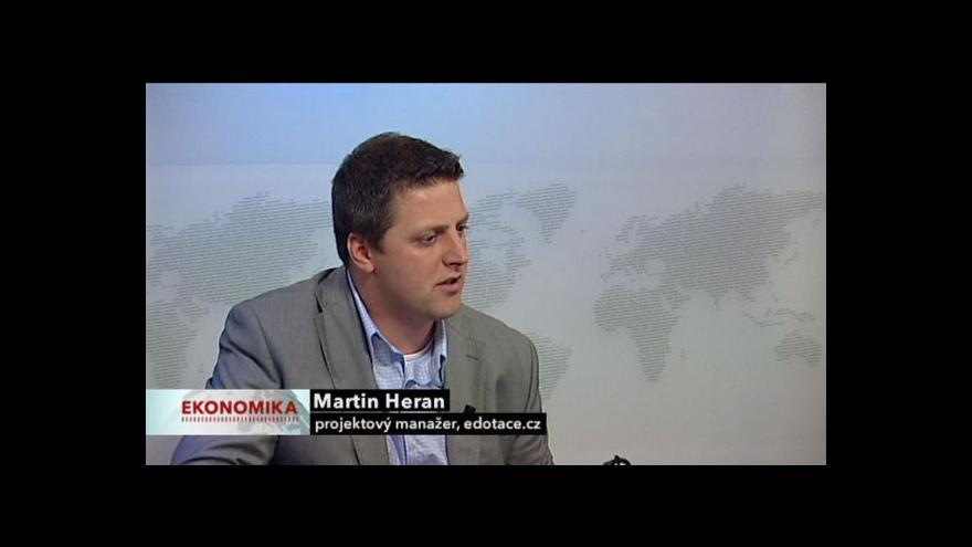 Video Ekonomika ČT24: Rozhovor s Martinem Heranem