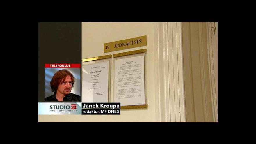 Video Novinář Janek Kroupa ke kauze Berka