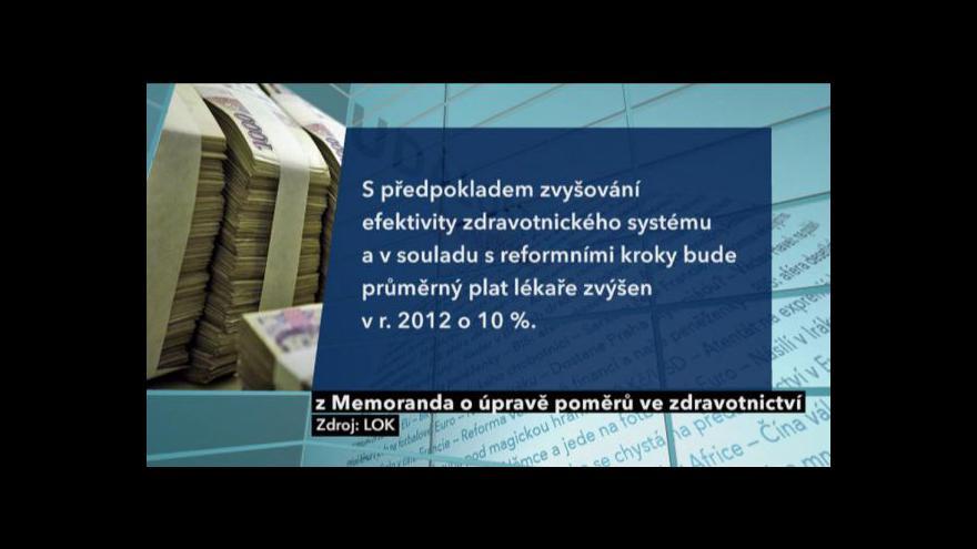 Video Události, komentáře k jednání zdravotnické tripartity