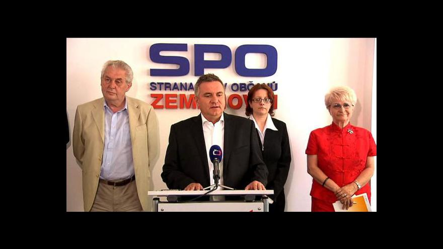 Video Brífink Strany práv občanů - Zemanovců