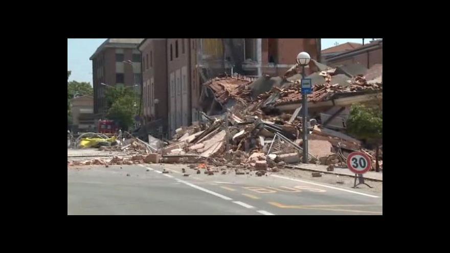 Video Sever Itálie zasáhlo zemětřesení