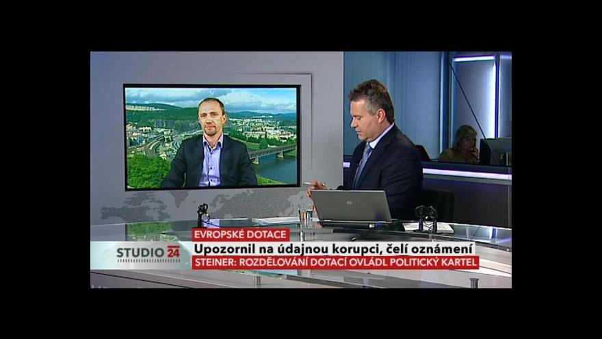 Video Leo Steiner ve Studiu ČT24
