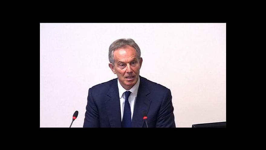 Video Vystoupení Tonyho Blaira před vyšetřovací komisí