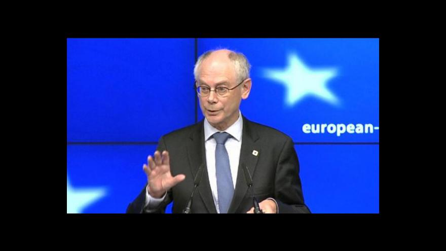 Video Tisková konference k summitu EU