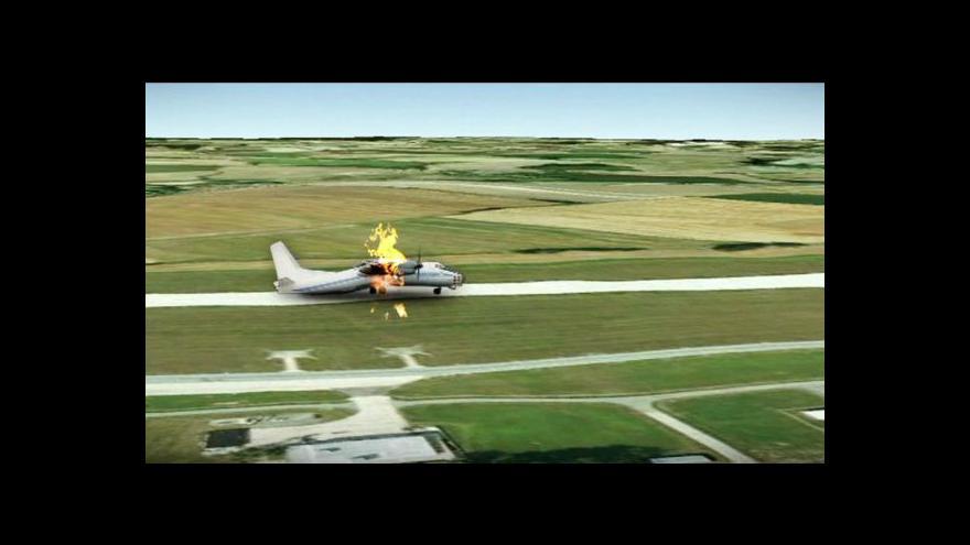 Video Animace letecké nehody