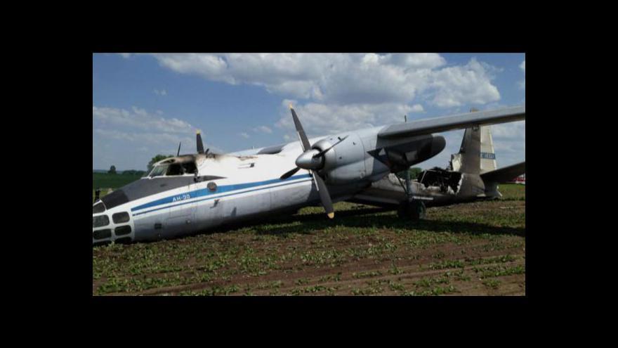 Video U Čáslavi havarovalo ruské letadlo