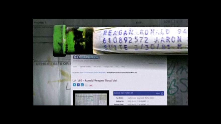 Video V aukci je krev Ronalda Reagana