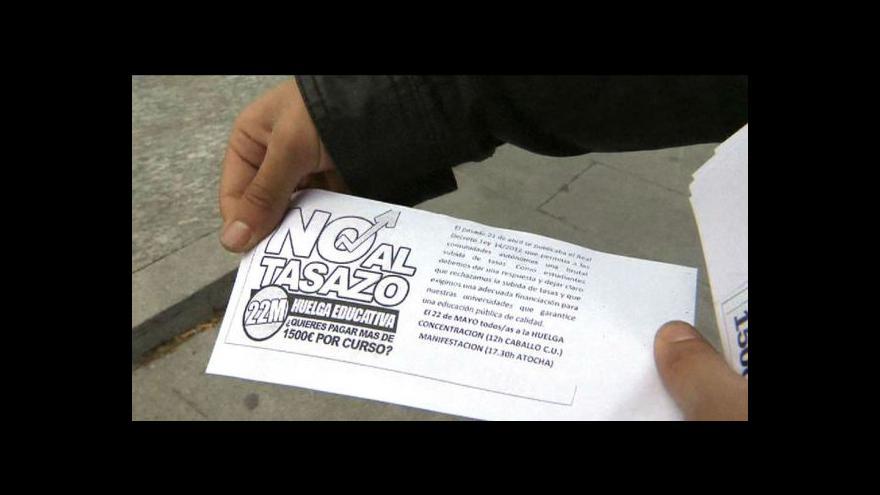 Video Španělští učitelé i studenti stávkují
