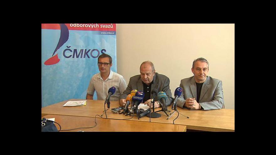 Video Brífink ČMKOS k plánovaným protestním akcím