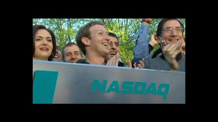 Video Vývoj ceny akcií Facebooku
