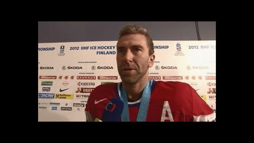 Video Petr Nedvěd po vítězství nad Finy