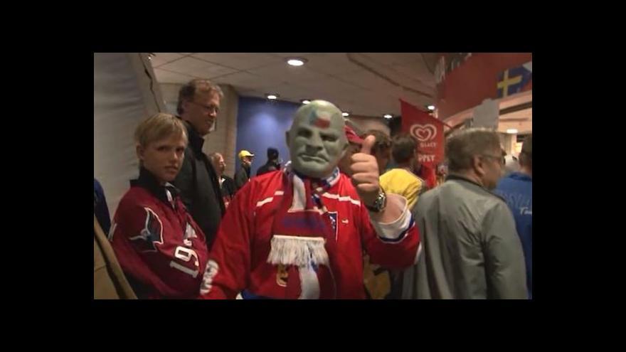 Video Atmosféra čtvrtfinále Česko - Švédsko očima Davida Soeldnera
