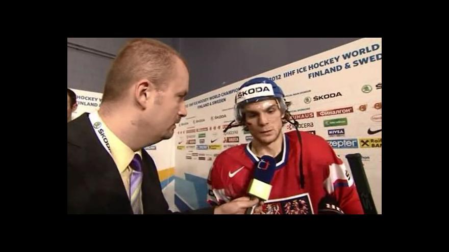 Video Michael Frolík po semifinále