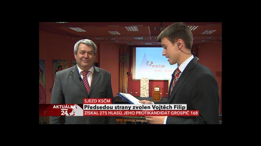 Video Rozhovor s Vojtěchem Filipem po jeho zvolení