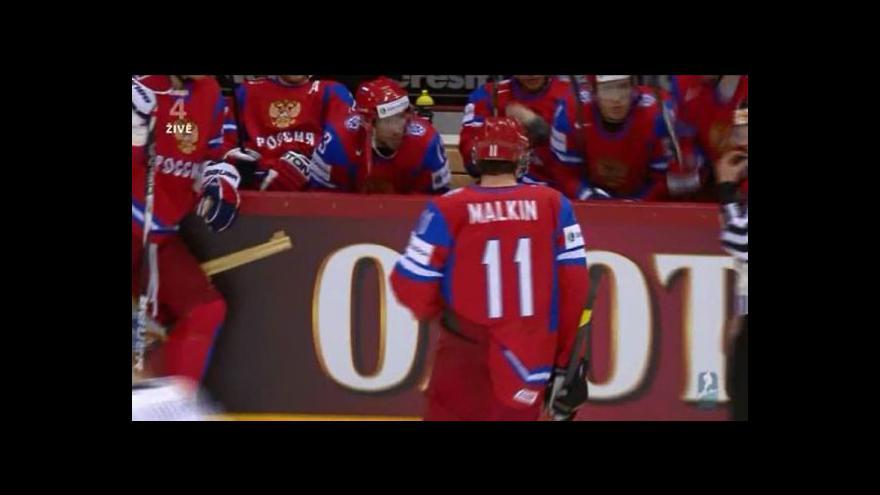 Video Malkinův hattrick proti Finsku
