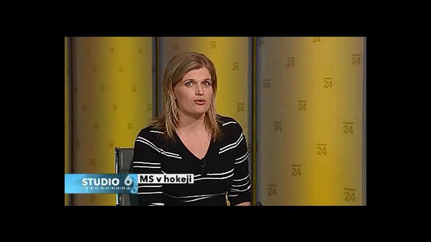 Video Darina Vymětalíková k MS v hokeji