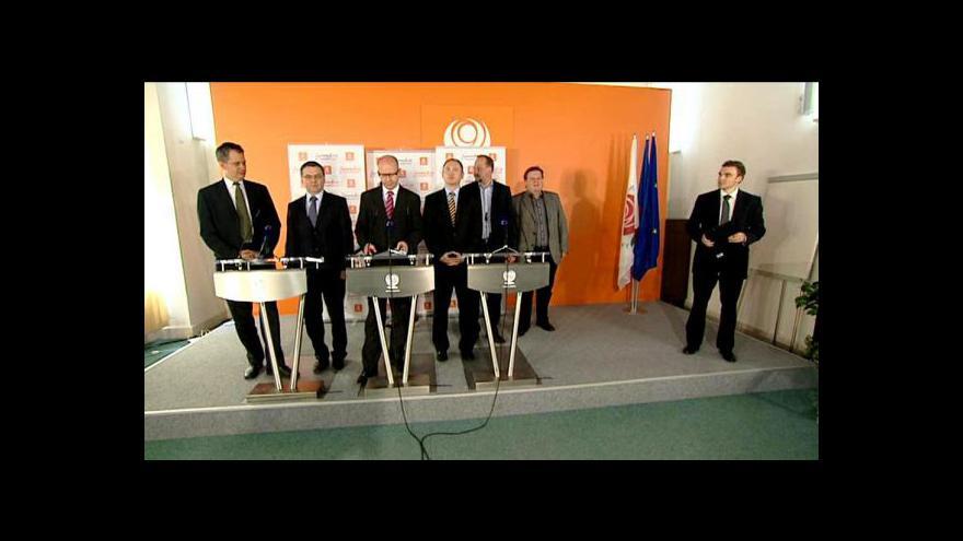 Video Brífink po jednání grémia ČSSD