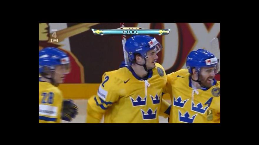 Video Vyrovnávací gól Švédů