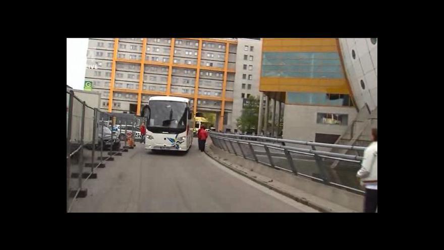 Video Příjezd českých hokejistů na čtvrtfinále