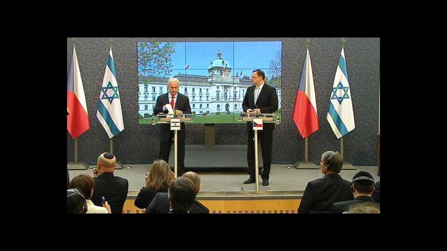 Video Podpisy vzájemných smluv a brífink premiérů Nečase a Netanjahua