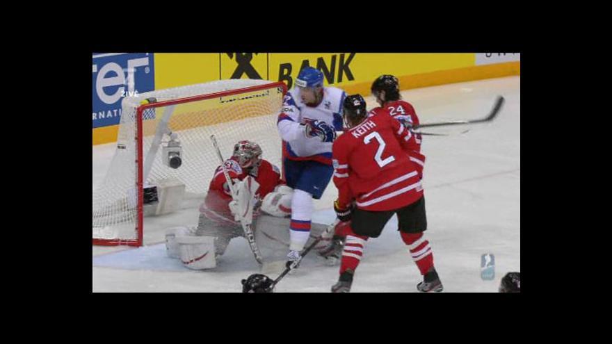 Video První gól Slovenska proti Kanadě