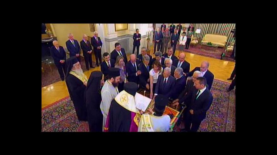 Video Řecká přechodná vláda složila přísahu