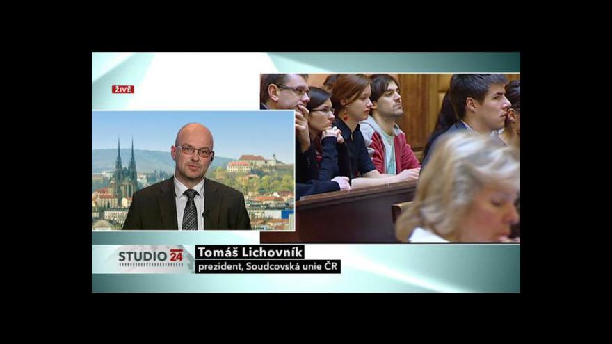 Video Rozhovor s předsedou soudcovské unie Tomášem Lichovníkem