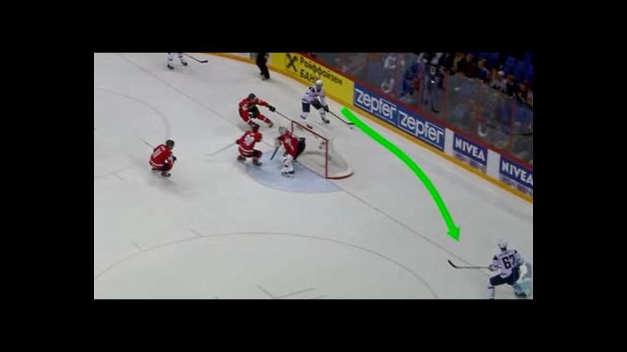 Video Gól Američanů na 3:1 proti Švýcarsku