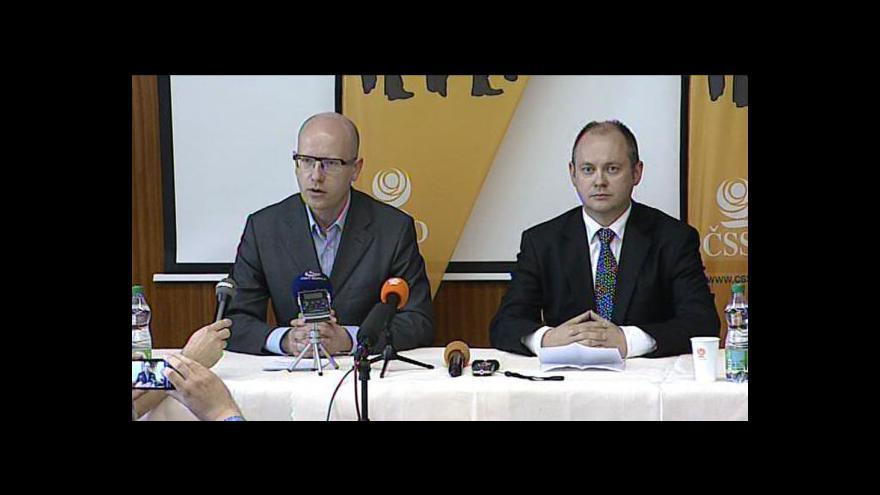 Video Brífink ČSSD k zadržení Davida Ratha