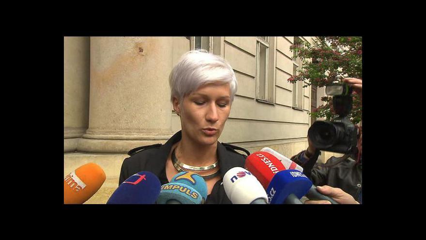 Video Prohlášení mluvčí krajského úřadu Berill Maschekové