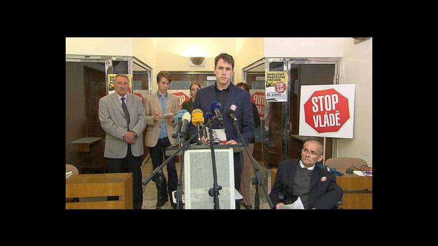 Video Platfroma Stop vládě upřesňuje detaily protestů