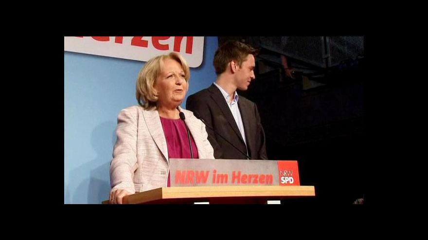 Video V zemských volbách v Severním Porýní-Vestfálsku vyhrála SPD